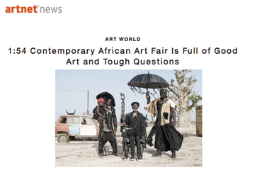 Article sur NEWS.ARTNET.COM - 1:54 Contemporary African Art Fair is full of good art and tough questions - 2015