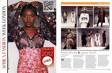Article sur AFWL : Africa Fashion Week London & See Africa Differently designer competition winner - 2012