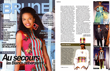 Parution dans BRUNE MAGAZINE - Collection Tangana - 2012