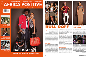 Article sur AFRICA POSITIVE : Bull Doff Mehr als nur ein Trend - Collection Cabral - 2014